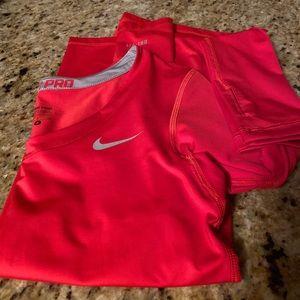NikePro orange🧡long sleeve